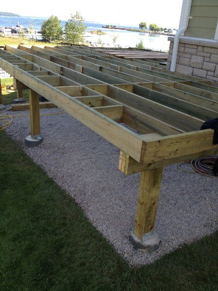 Landscape Fabric Under Deck : Decks and railings midland multi service